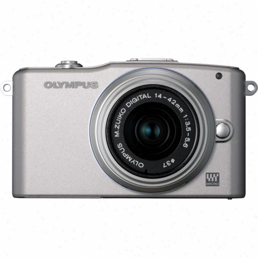 Olympus Pen E-pm1 12 Megapixel Digital Camera With Lens Kit - Silver/silver