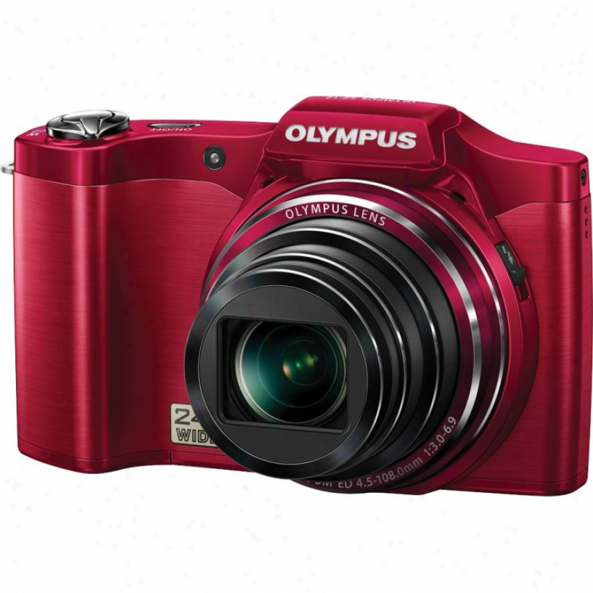 Olympus S Succession Sz-12 14 Megapixel Digital Camera - Red
