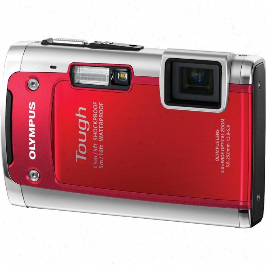 Olympus Tg-610 Tough Serieq 14 Megapixel Digital Camera - Red