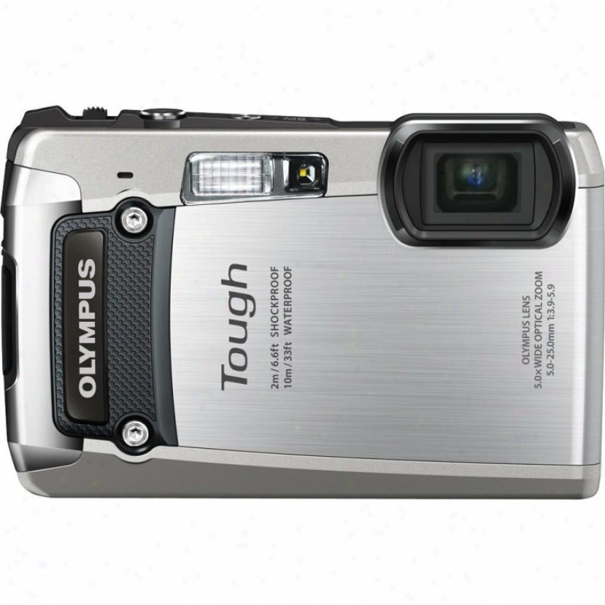 Olympus Tough Series Tg-820 Ihs 12 Megapixel Digital Camera - Silver
