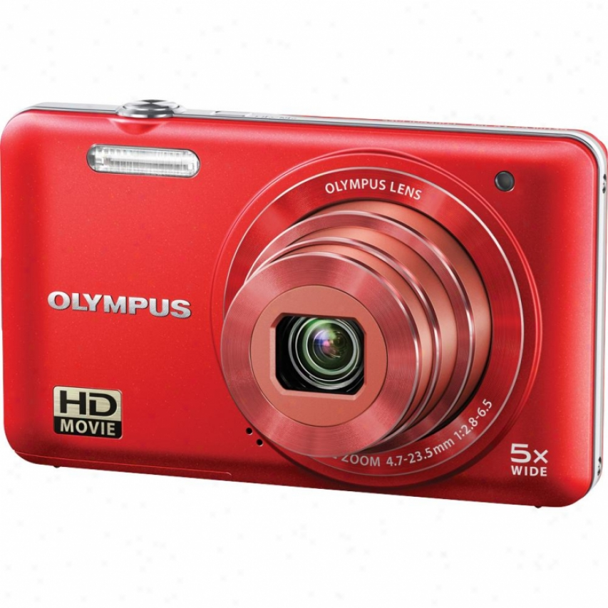 Olyympus V Series Vg-160 14 Megapixel Digital Camera - Red