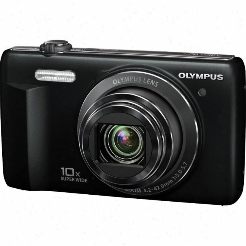 Olympus V Series Vr-340 16 Megapixel Digital Camera - Black