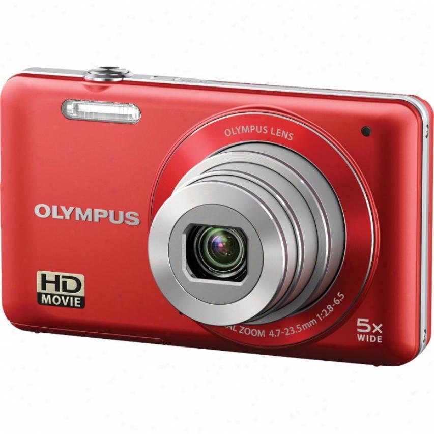 Olympus Vg-120 V Series 14 Megapixel Digital Camera - Red