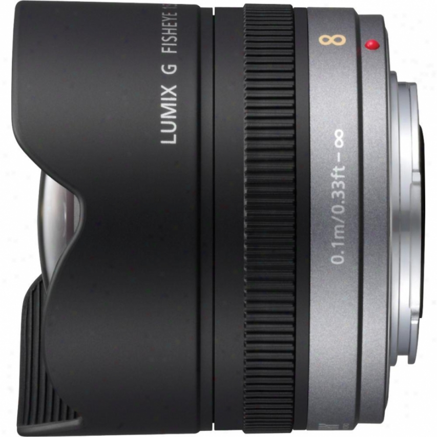 Panasonic 8mm F/3.5 Lumix G Fisheye / Micro Four Third Lens - H-f008