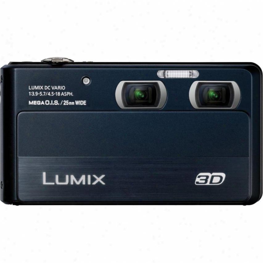 Panasonic Dmc-3d1l Lumix 2d 3d 12 Megapixel Digital Camera - Black