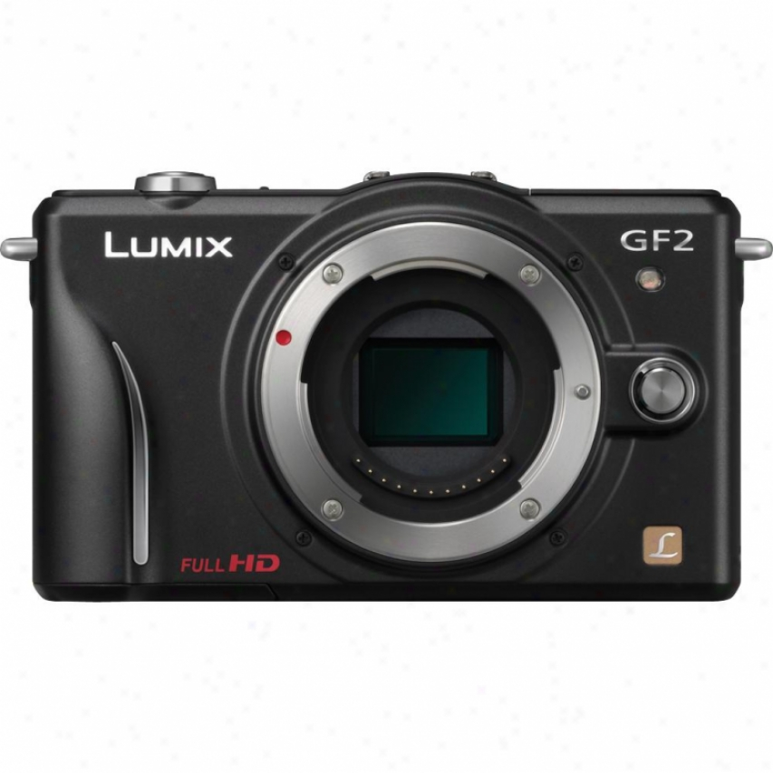 Panasonic Dmc-gf2 Lumix 12 Megapixel Digital Camera - Black - Body Only