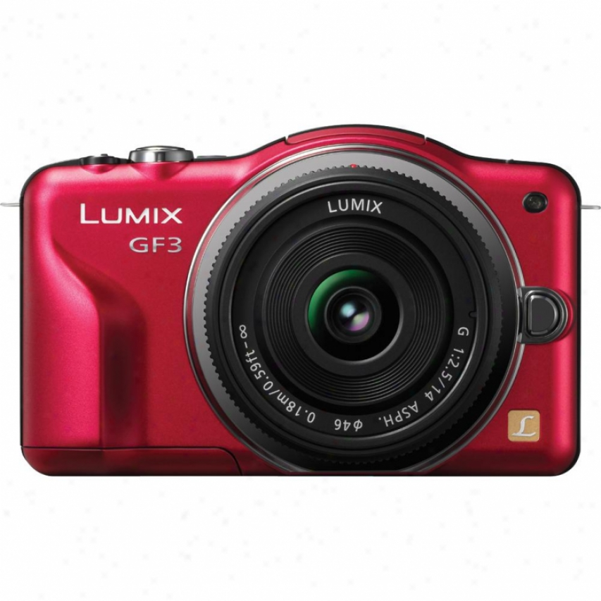 Panasonic Dmc-gf3 12.1mo Digital Camera - Red