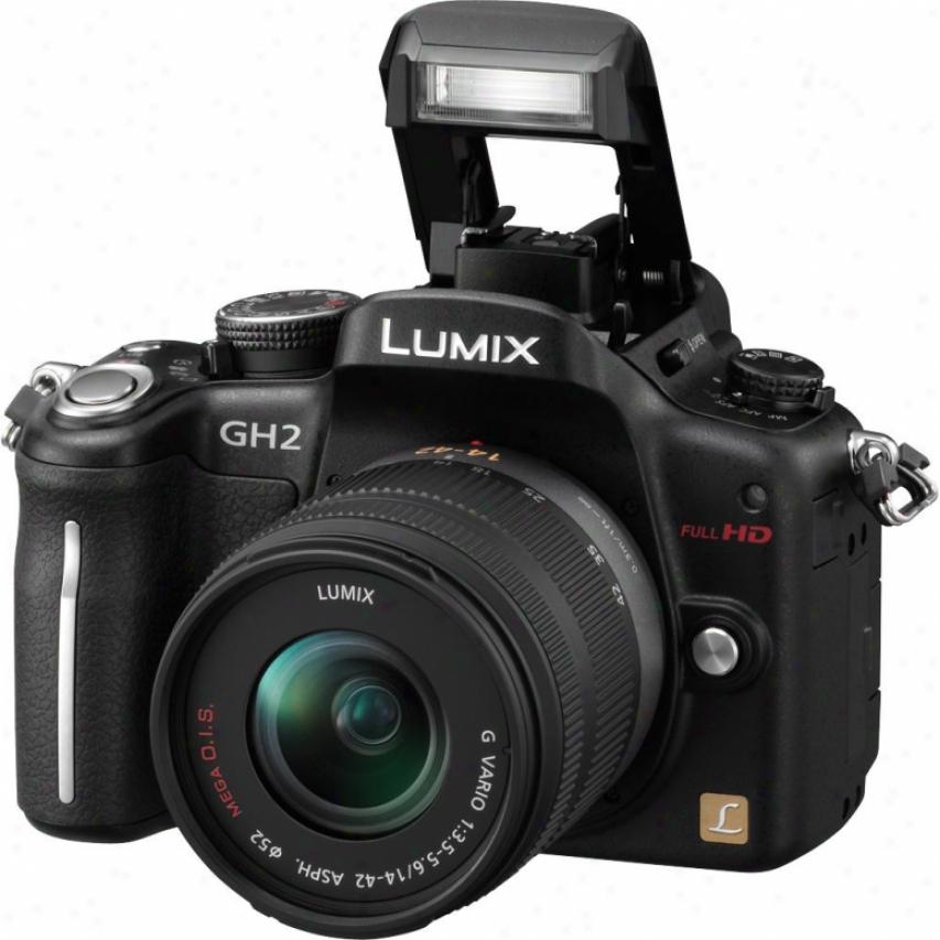 Panasonic Dmc-gh2 Lumix 16 Megapixel Digital Camera Kit - Black