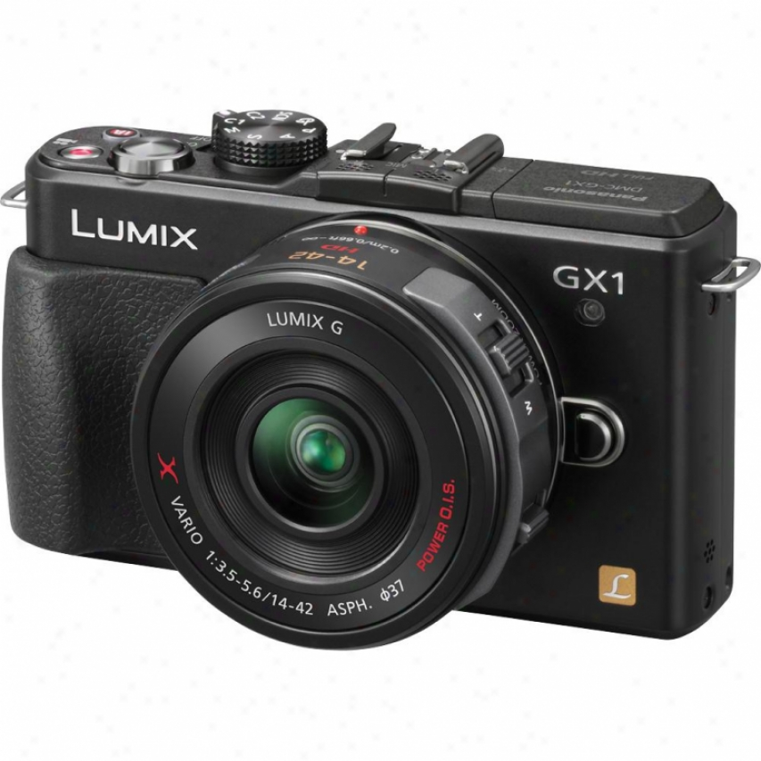Panasonic Dmc-gx1x Lumix Four-thirds 16 Meapixel Digital Camera - Black