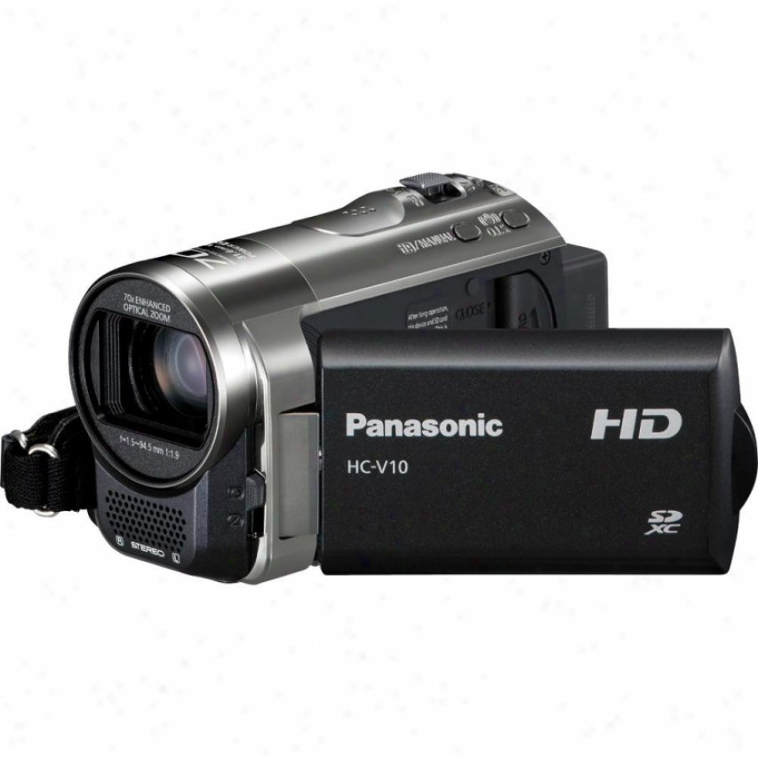 Panasonic Hc-v10 High Definition Camcorder - Black