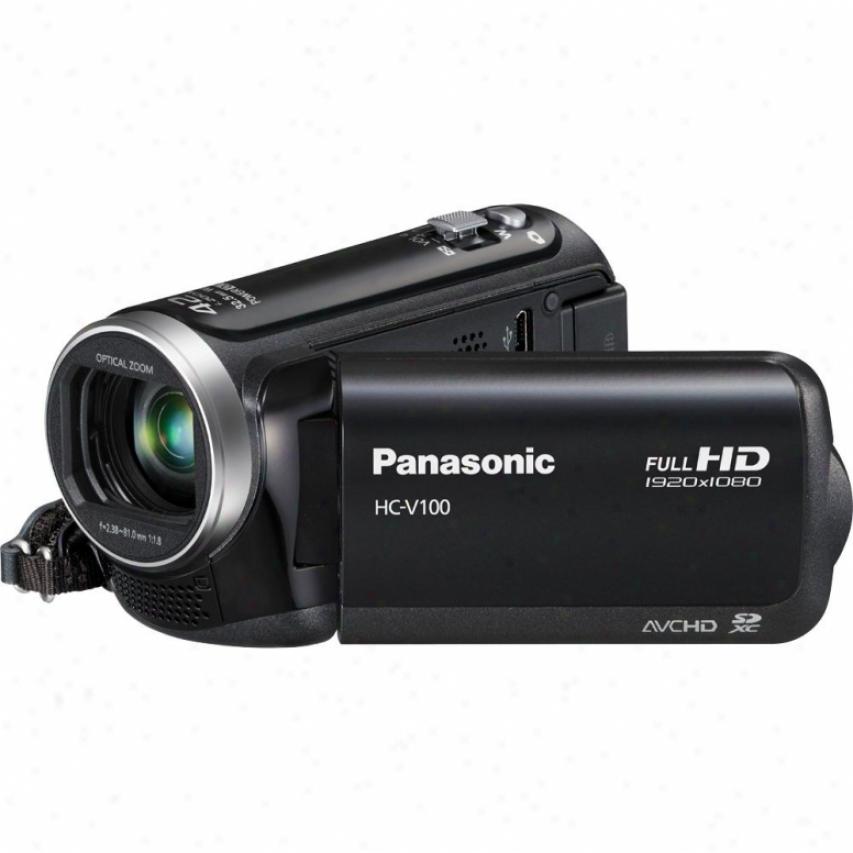 Panasonic Hc-v100 Full High Definition Camcorder - Black