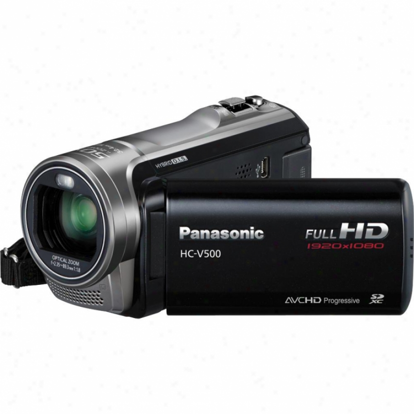 Panasonic Hc-v500 Full High Definition Camcorder - Black