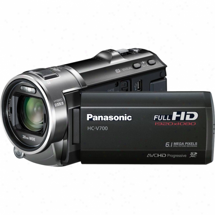 Panasonic Hc-v700 3d Ready Full High Definition Camcorder - Black