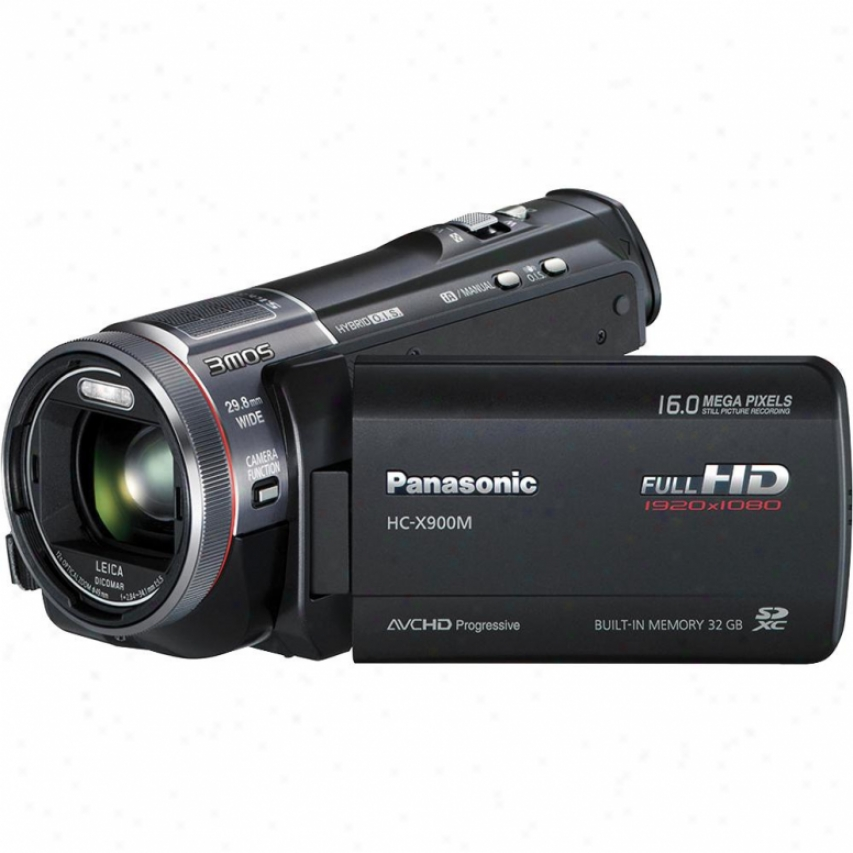 Panasonic Hc-x900m 32gb 3d Ready Full Hd Camcorder - Black