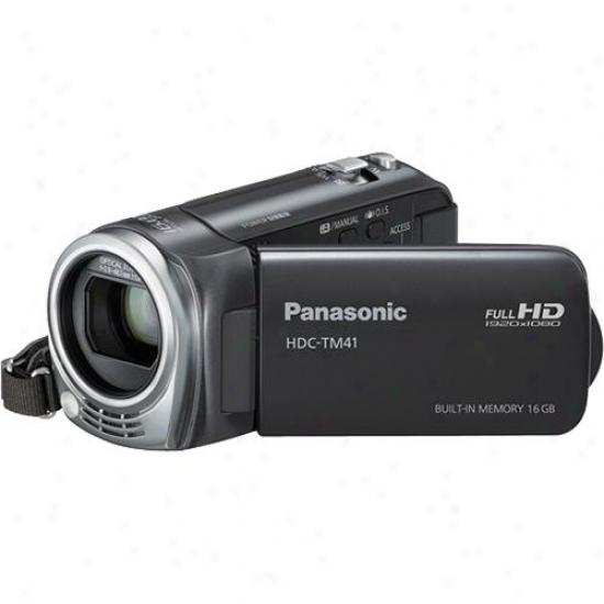 Panasonic Hdc-tm41 16gb High Definition Camcorder - Gray