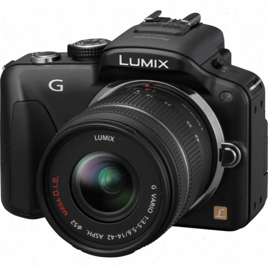 Panasonic Lumix Dmc-g3k 16 Megapixel Digital Camera With Lens Kit - Black