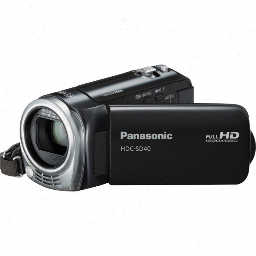 Panasonic Open Box Hdc-sd40 High Definition Camcorder - Black