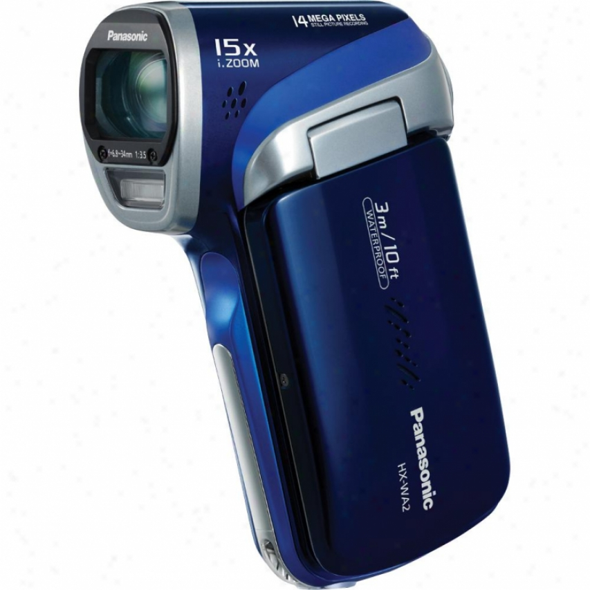 Panasonic Waterproof Exactly Hd Camcorder (blu) Hx-wa2a