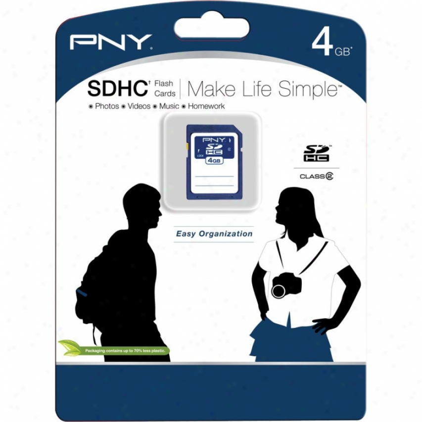Pny 4gb Sd High Capacity Memory Card - Navy