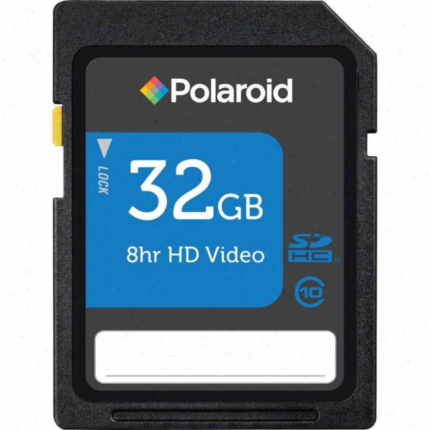 Polaroid 32gb Class 10 Sdhc Flash Memory Card - P-sdhc32g10-efpol
