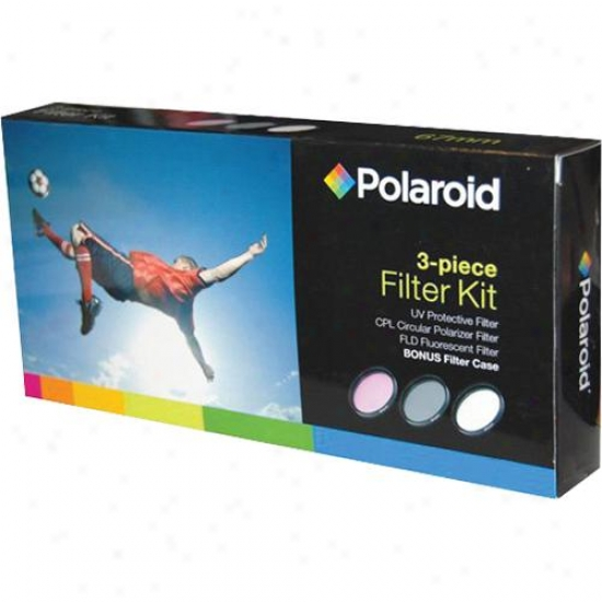 Polarroid 67mm 3 Piece Filter Kit (uv, Cpl, Fld)