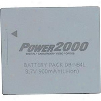 Power 2000 Acd-243 Rechargeable Battery ( Canon Nb-4l Equivalent )