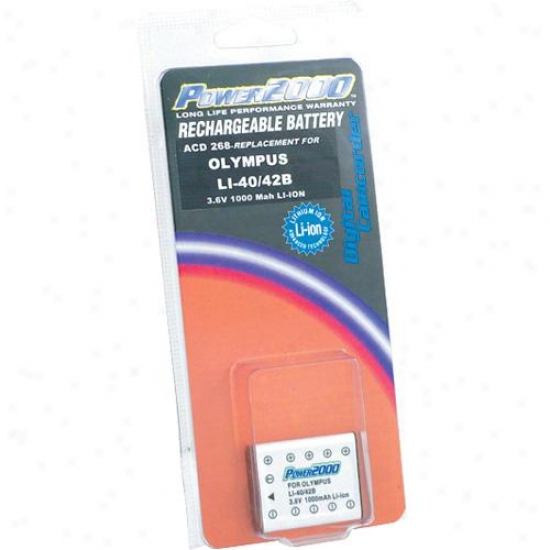 Power 2000 Acd-268 Rechargeable Battery ( Li-40b / Li-42b / D-li63 Equivalent )