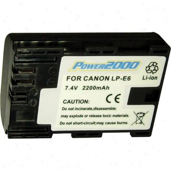 Power 2000 Acd-320 R3placement Battery For Canon Lp-e6