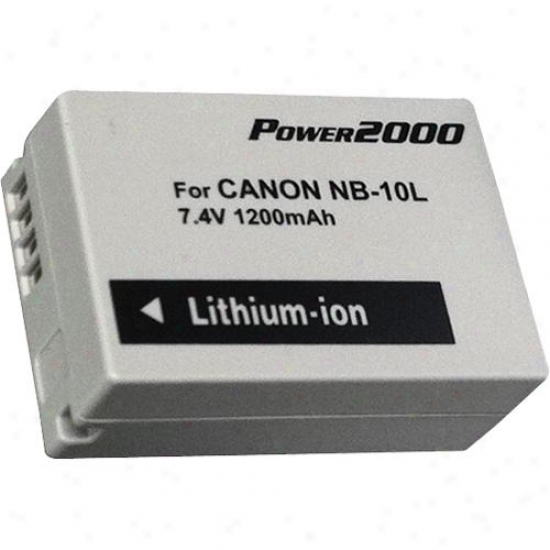Power 2000 Acd-347 Replacement Battery For Canon Nb-10l