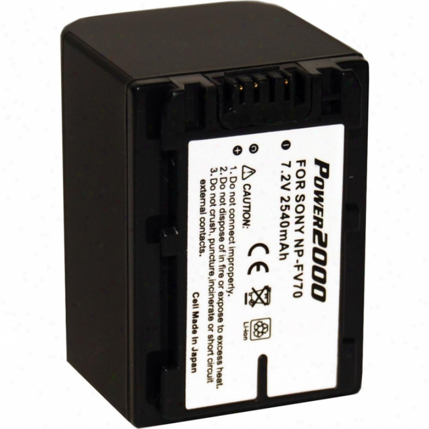 Power 2000 Acd-770 Replacement Battery For Sony Npfv70