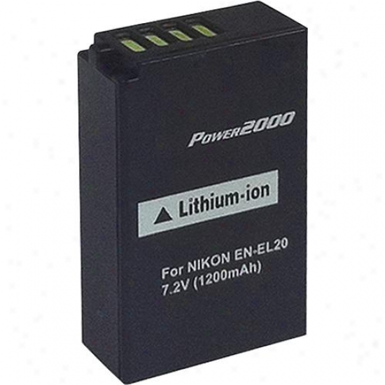 Power 2000 Acd348 Rep1acement Battery For Nikon En-el20