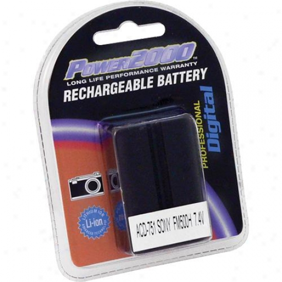 Power 2000 Acd751 Replacement Rechargeable Battery (sony Np-fm500h Equal)