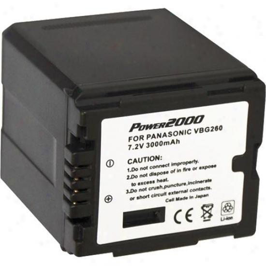Power 2000 Acd757 Re-establishment Rechargeable Battery For Panasonic Vbg-260
