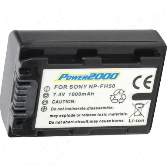 Power 2000 Acd759 Re-establishment Rechargeable Battery For Sony