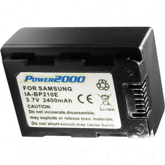 Power 2000 Replacement Battery For Samsung Ia-bp210e