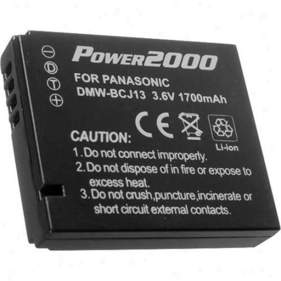 Power 2000 Replacemet Because of Panasonic Dmw-bcj13 Camera Battery Acd-330