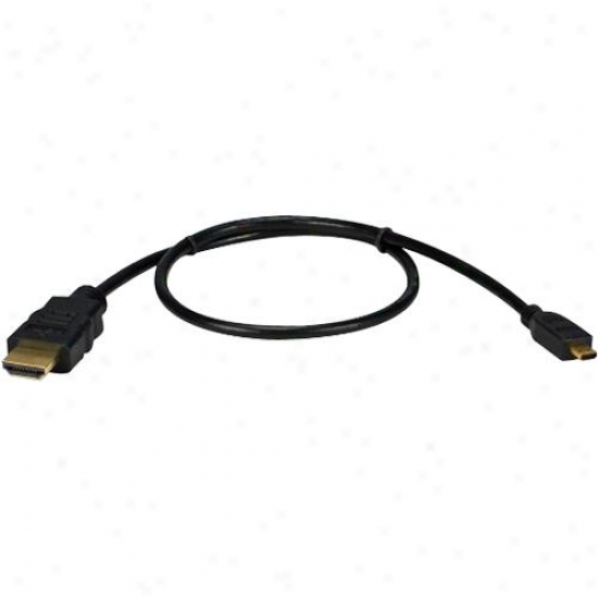 Qvs High Speed Hdmi To Micro Hdmi With Ethernet Hdad05m
