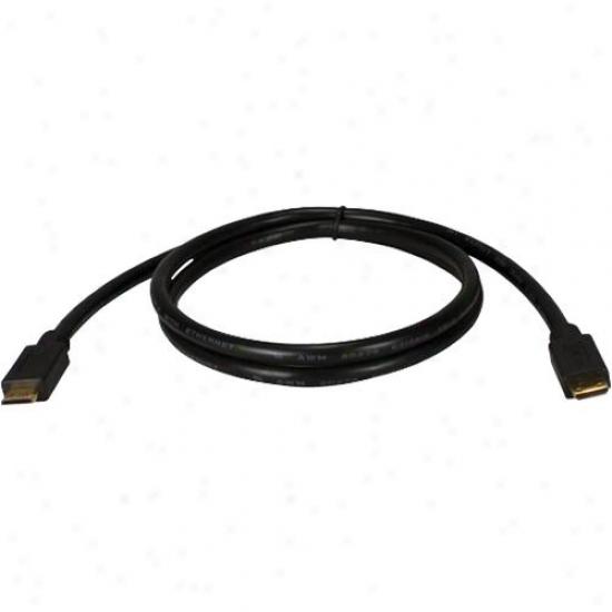 Qvs High-speed Mini Hdmi To Mini Hdmi W/ Ethernet 1080p Hd Camera Cable - 3 Feet