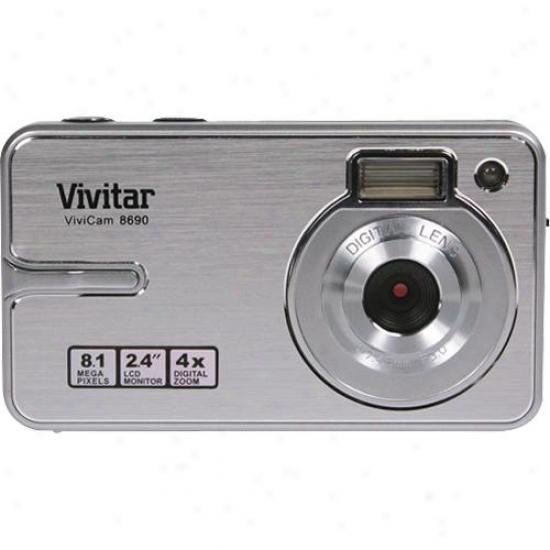 Sakar Vivitar-hd 8.1 Mp Dig Cam-slv