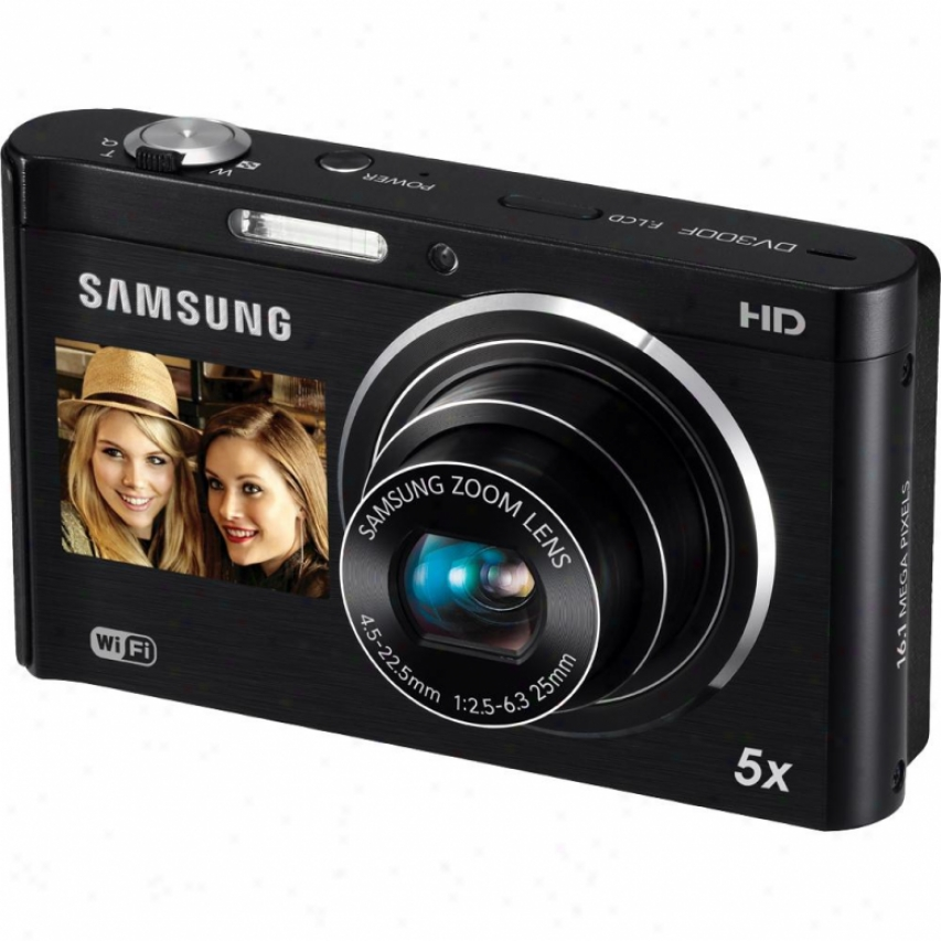 Samsung Dv300 Dualview 16 Megapixel Digital Camera - Black