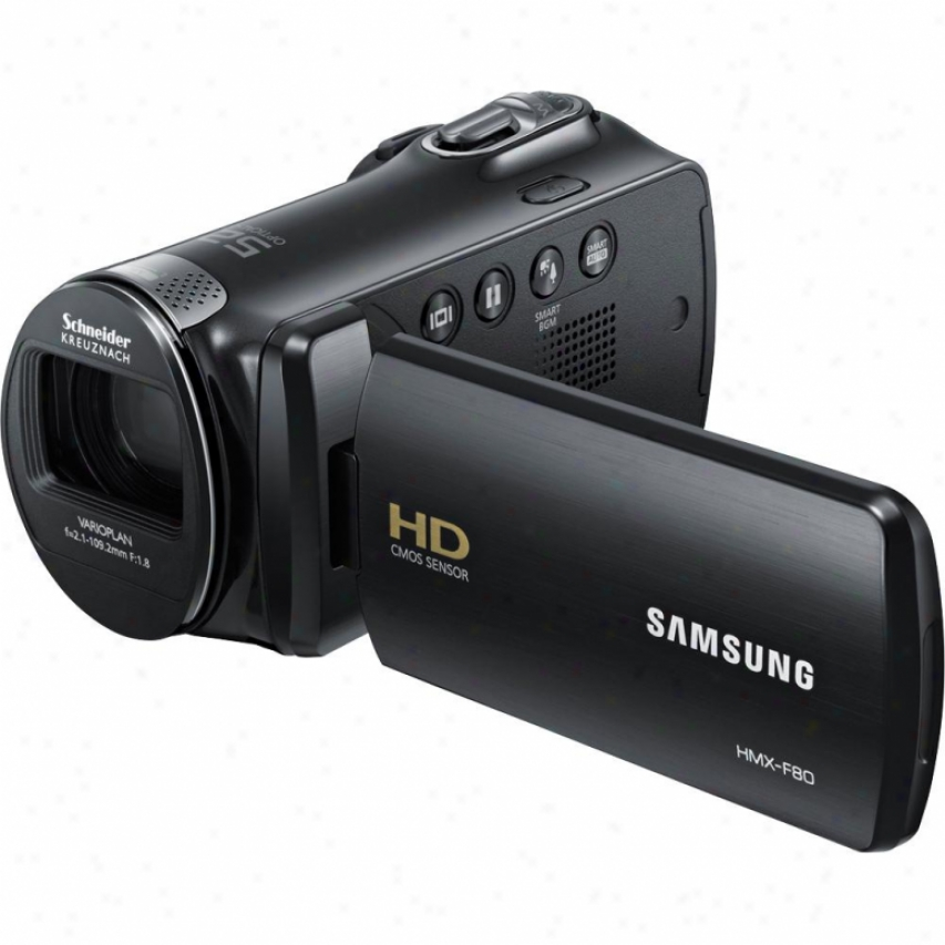 Samsung Flash Memory Hd Camcorder Black Hmx-f80bn