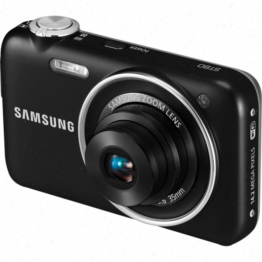 Samsung Open Box St80 14.2-megapixel Wireless Digital Camera - Black