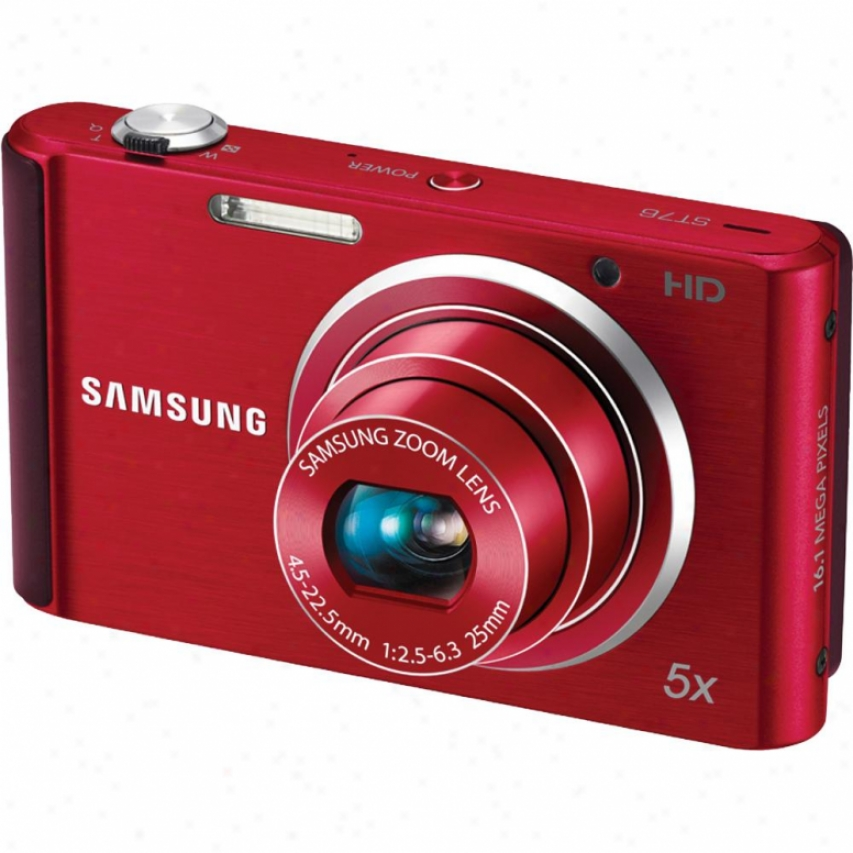 Samsung St-76 16 Megapixel Digital Camera Red