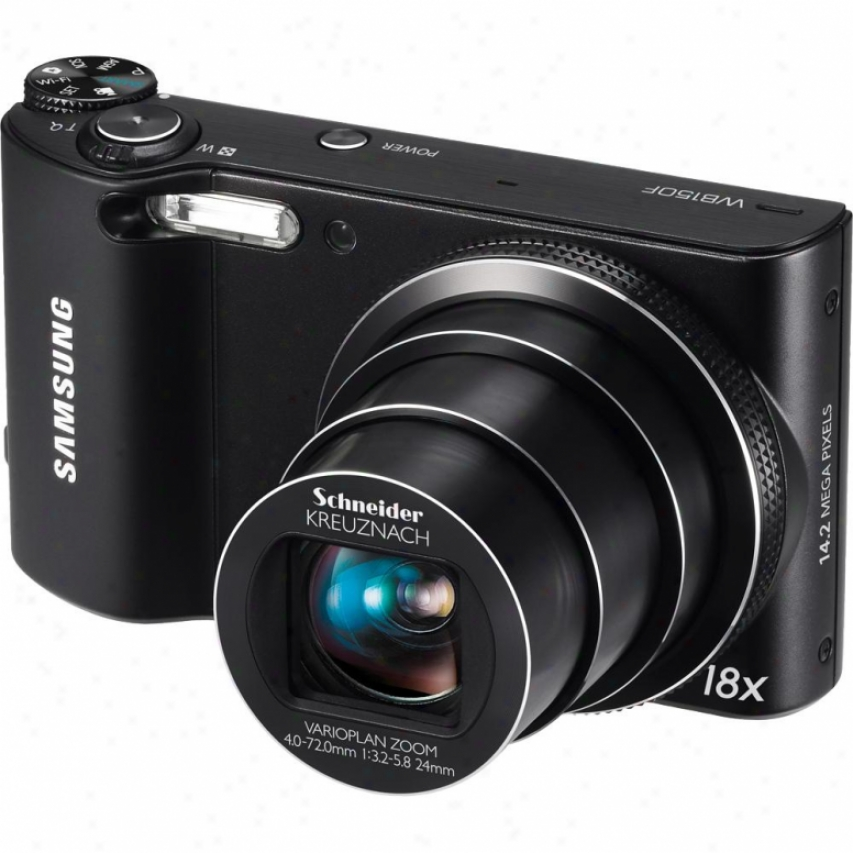 Samsung Wb150f Smart Long Zoom Wifi 14 Megapixel Digital Camera - Black