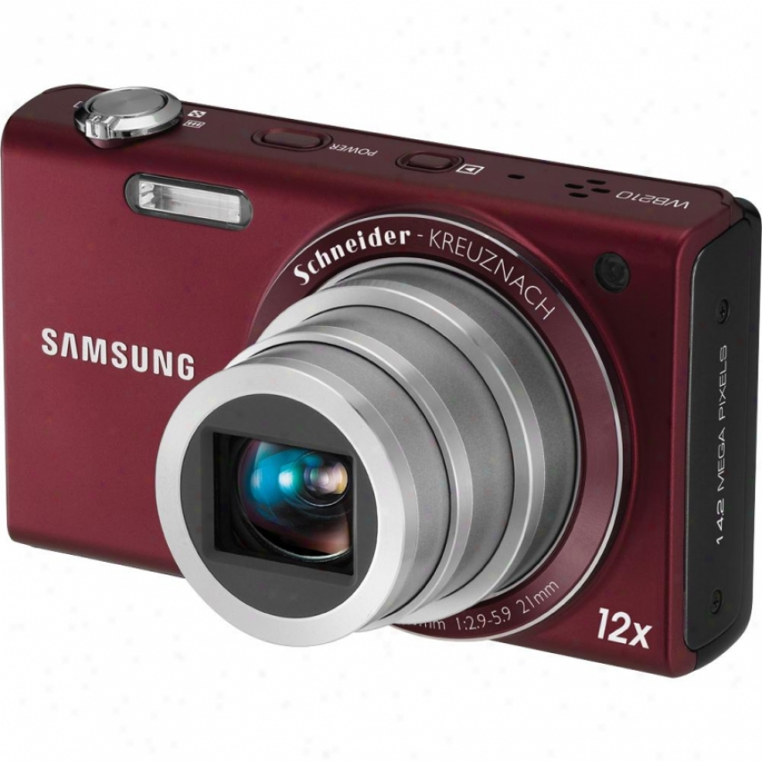Samsung Wb210 14 Megapixel Digital Camera - Birgundy