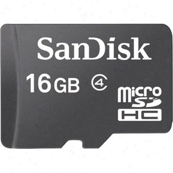 Sandisk 16gb Microshdc Memory Card With Adapter