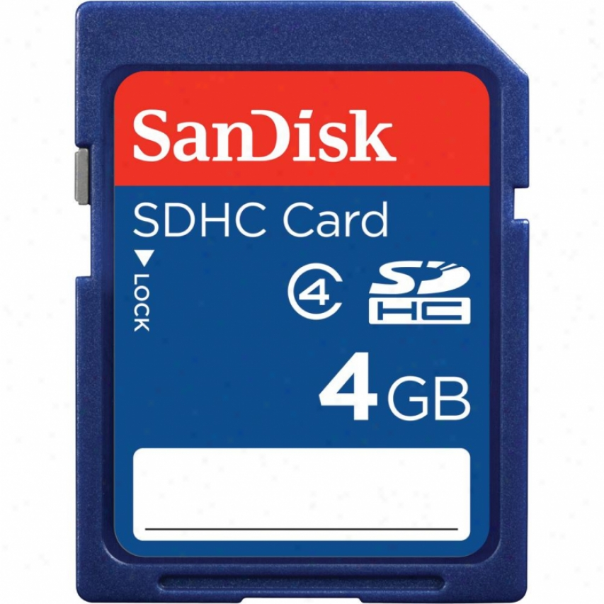 Sandisk 4gb Sdhc Class 4 High Capacity Memory Card