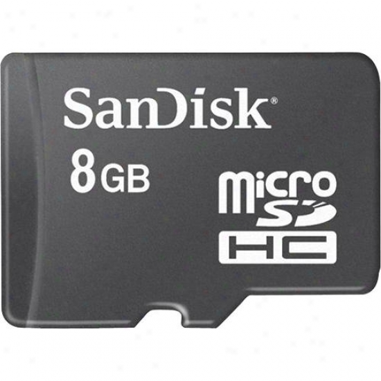 Sandosk 8gb Microsdhc By the side of Sd Adapter