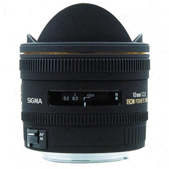 Sigma 10mm F/2.8 Ex Dc Fisheye Hsm Lens For Nikon Slr