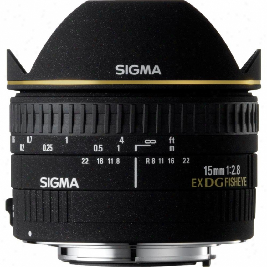 Sigma 15mm F2.8 Ex Dg Diagonal Fisheye Lens For Nikon Dslr Cameras